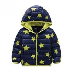 Endymion - 儿童星星印花连帽羽绒大衣