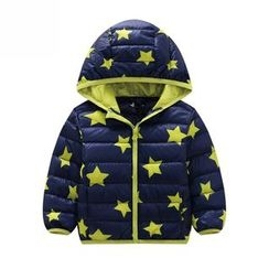 Endymion - Kids Star Print Hooded Down Coat