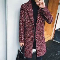 NAPO - Patterned Wool Blend Coat