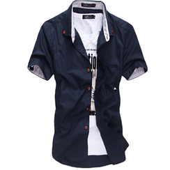 Consto - Embroidered Short-Sleeve Shirt