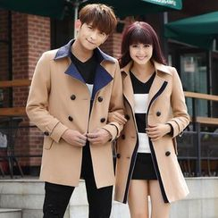 NoonSun - Couple Matching Double-Breasted Coat