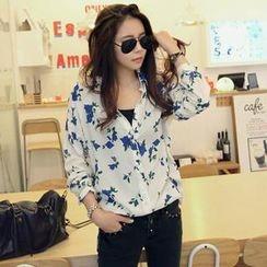 REDOPIN - Floral Print Shirt