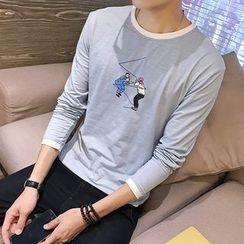Masowild - Long-Sleeve Print T-Shirt