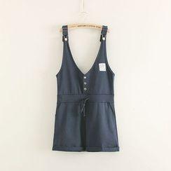 Mushi - Drawstring Waist Jumper Shorts