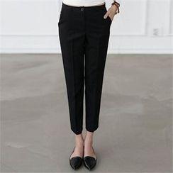 CHICFOX - Flat-Front Straight-Cut Pants