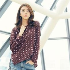 MAGJAY - Slit-Side Patterned Blouse