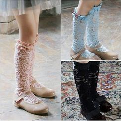 Cuckoo - 小童蝴蝶結飾蕾絲襪