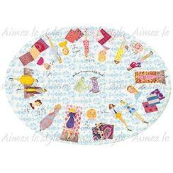 Aimez le style - Aimez le style Oval Plate Fashion Sketchbook