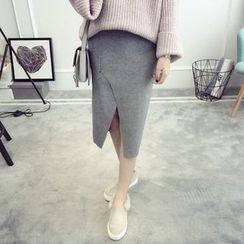 TIMI - Front Slit Midi Skirt