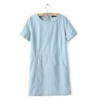 JVL - Short-Sleeve Denim Dress
