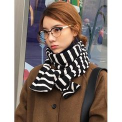 FROMBEGINNING - Striped Knit Scarf