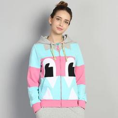 HappyTee - Printed Hooded Jacket