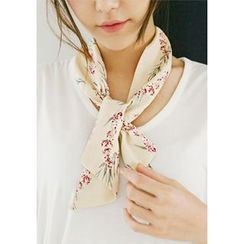 GOROKE - Flower Print Twilly Scarf