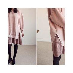 MASoeur - Ruffled-Hem Pullover Dress
