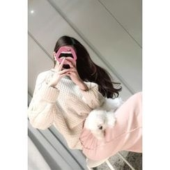 ATTYSTORY - Round-Neck Cable-Knit Top