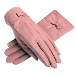 RGLT Scarves - Bow-Accent Faux-Leather Panel Gloves