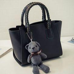 Nautilus Bags - Woven Faux Leather Handbag