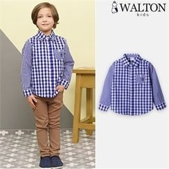 WALTON kids - Boys Pocket-Front Gingham Shirt