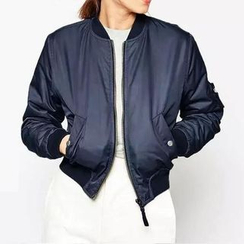 Chicsense - Padded Baseball Jacket