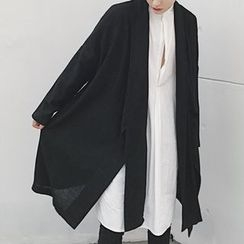 Mr. Wu - Tie-Front Long Cardigan