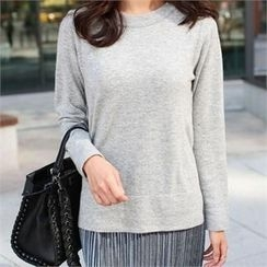 YOOM - Cashmere Blend Round-Neck Knit Top