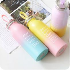 Good Living - Gradient Lettering Thermal Water Bottle