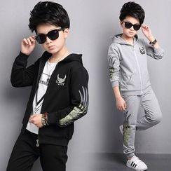 Pegasus - 童装套装: 印花连帽夹克 + 运动裤