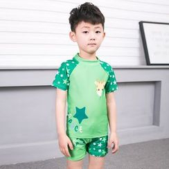 Aqua Wave - Kids Set: Star Print Rashguard + Swim Shorts