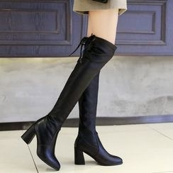 IYATO - Chunky-Heel Over-the-Knee Boots