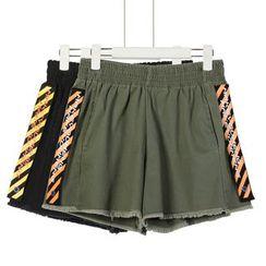 Momewear - Fray-Hem Shorts