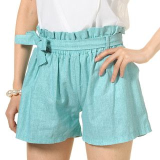 59 Seconds - Paperbag Waist Shorts with Sash