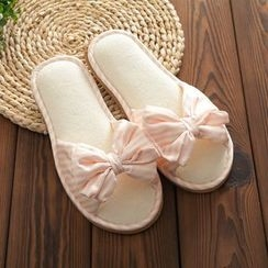 Cottoncraft - Bow Striped Slippers