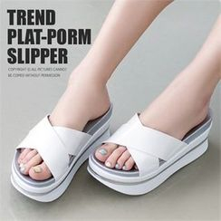 Mizshoes - Strap Flatform Sandals