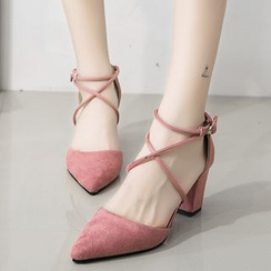IYATO - Strappy Pointy Pumps