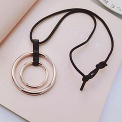 Ticoo - Faux Leather Necklace