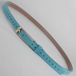 Goldenrod - Perforated Slim Belt