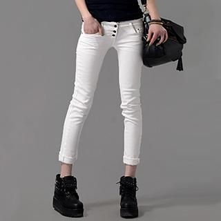On The Block - Cropped Skinny Pants