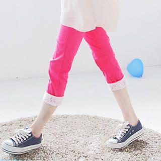 Tokyo Fashion - Lace-Trim Cuffed-Hem Cropped Pants