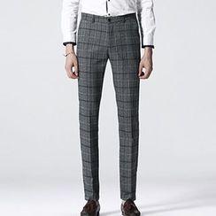 HEIZE - Plaid Slim Fit Pants