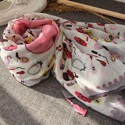 Cozykiss - 印花棉質圍巾