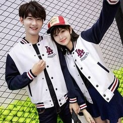 We Belong - Couple Matching Panel Baseball Jacket