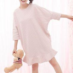 Fairyland - Striped 3/4-Sleeve Dress