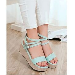 Freesia - Strappy Wedge Sandals