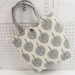 Ms Bean - Print Fabric Tote Bag