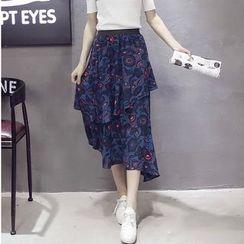 Deedlit - Ruffle Chiffon Long Skirt