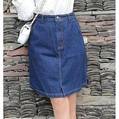 Jeans Kingdom - A-Line Denim Skirt