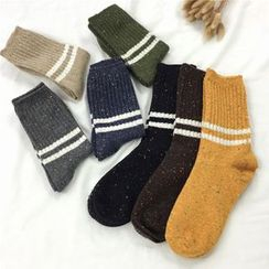 Pompabee - Stripe Knit Socks