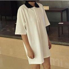 Anyu - 短袖馬球連衣裙