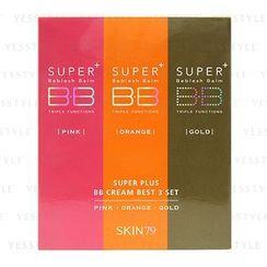 SKIN79 - Super Plus Beblesh Balm BB Cream Best 3 Set: Pink 7g + Gold 7g + Orange 7g