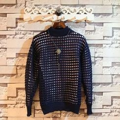 Sundipy - Open-Knit Sweater